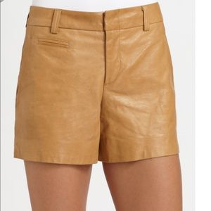 Vince Lamb Leather Shorts brown size 12